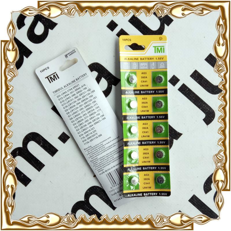 Батарейка TMI AG3 (392A/LR41W)