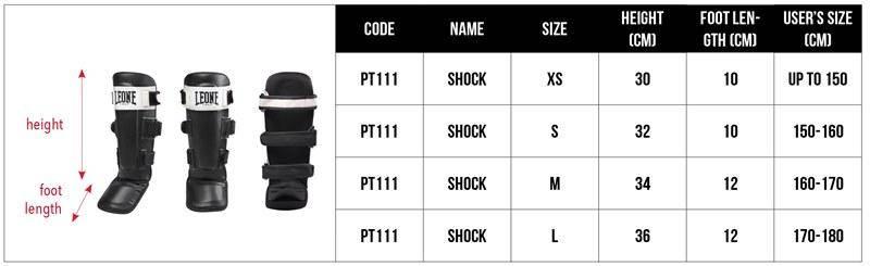 Защита голени Leone Shock Black M, фото 2