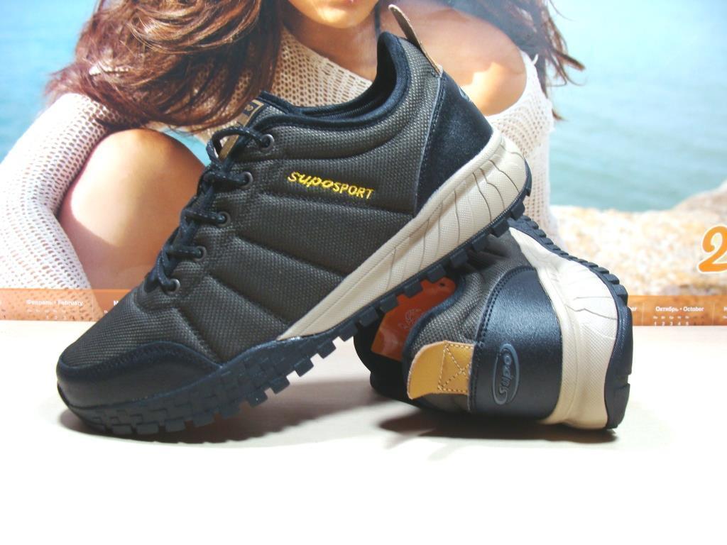 Термо кроссовки мужские -Supo Waterproof коричневые 46 р.