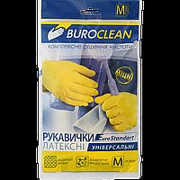 Перчатки хозяйственные резиновые, размер M (средние). Buroclean