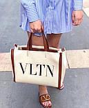 Сумка шоппер від Валентино Canvas, фото 3