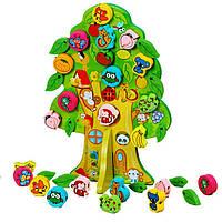 Деревянная игрушка Дерево шнуровка «Лукоморье», развивающие товары для детей.