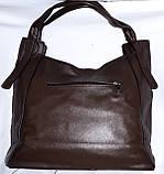 Женские сумки-торбочки из искусственной кожи с вертикальными карманами по бокам  35*33см (черная и серая), фото 3