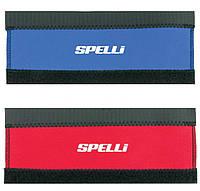 Защита пера Spelli SPL-810 на липучке, Красная Неопреновая, с белым логотипом Spelli , размер 85-100