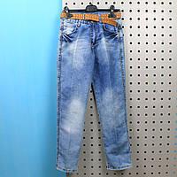 Детские джинсовые брюки для мальчика с ремнем Турция р.11 лет