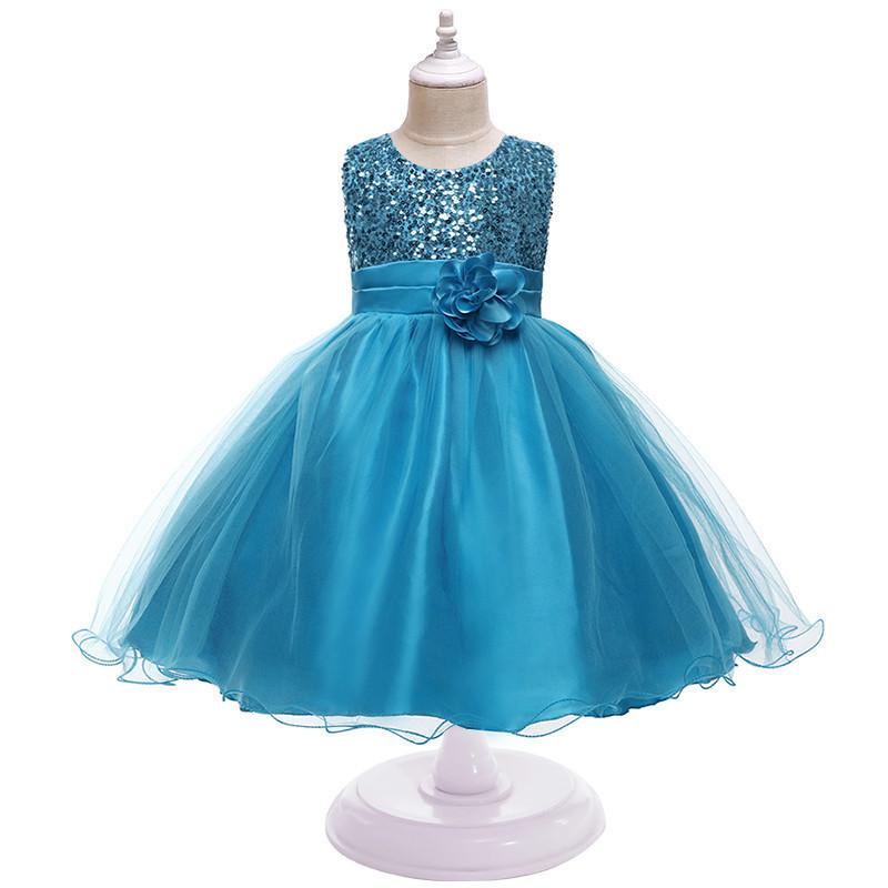 Очень нарядное пышное платье с паетками для девочки (на утренник, на фотосессию, на выпускной) 6, 7, 8, 9 лет