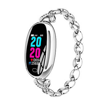 Розумні годинник Smart watch Smart-Fit E68 Original c тонометром Silver (SB0001E68S)