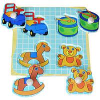 Деревянная игрушка Вкладыши для малышей «Мои игрушки», развивающие товары для детей.