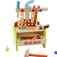 Деревянная игрушка Стол для инструментов «Мастер», развивающие товары для детей.