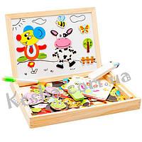 Деревянная игрушка Чемоданчик с фигурками «Веселые картинки», развивающие товары для детей.
