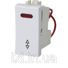 Модуль выключателя проходного с подсветкой. Размер 45*22,5 SIRIUS