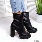 Женские демисезонные ботинки в черном цвете, натуральная кожа (под заказ 7-16 дней), фото 2