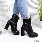 Женские демисезонные ботинки в черном цвете, натуральная кожа (под заказ 7-16 дней), фото 3