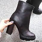 Женские демисезонные ботинки в черном цвете, натуральная кожа (под заказ 7-16 дней), фото 5