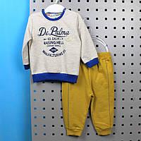 Детский костюм на мальчика длинный рукав, материал футер, возраст 6м тм FLEXI  Турци