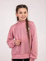 Свитер для девочек оптом, 128-164 рр. Артикул: 2445-розовый