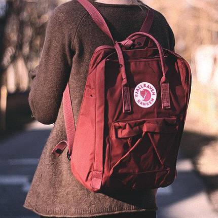 Рюкзак Канкен сумка портфель Kanken Fjallraven Classic текстиль рефлективное лого 6 цветов 16л реплика, фото 2