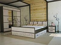 Кровать «Сакура» 1,6м с выдвижными ящиками