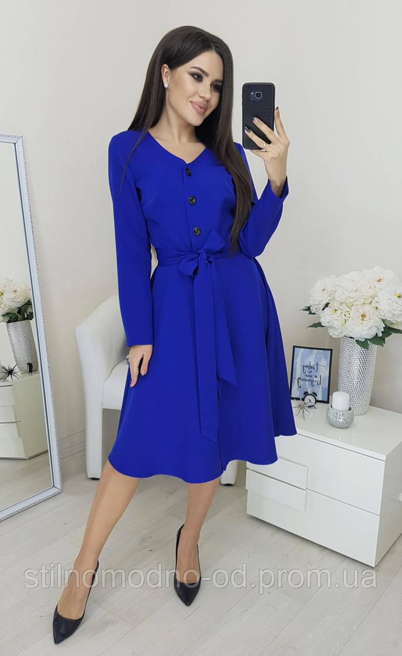 Сукня  костюмка з  декоративними гудзиками від  СтильноМодно