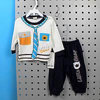 Детский костюм на мальчика длинный рукав, материал интерлок, возраст 9м тм ENZ  Турция