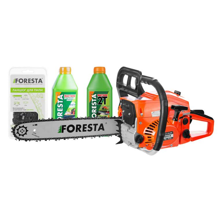 Бензопила цепная Foresta FA-58N + Цепь + 2 масла