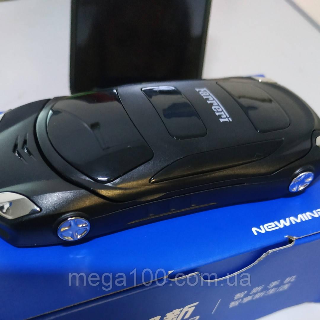 Телефон-машинка Феррари, телефон раскладушка Newmind F15 черный цвет, на 2 сим-карты