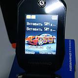 Телефон-машинка Феррари, телефон раскладушка Newmind F15 черный цвет, на 2 сим-карты, фото 2