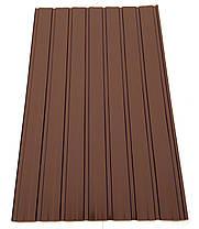 Профнастил ПС-10 цветной,15-ть волн, цвет: шоколад, 0,25мм 1,2м Х 0,95м, фото 3