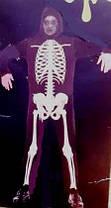 Карнавальный костюм Скелет  с капюшоном взрослый