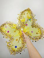 Набор феи, бабочки (крылья, обруч, волшебная палочка) желтый