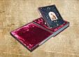 """Книга в кожаном переплете украшена художественным тиснением и камнями """"Христос Воскрес. Евангельская история"""", фото 4"""