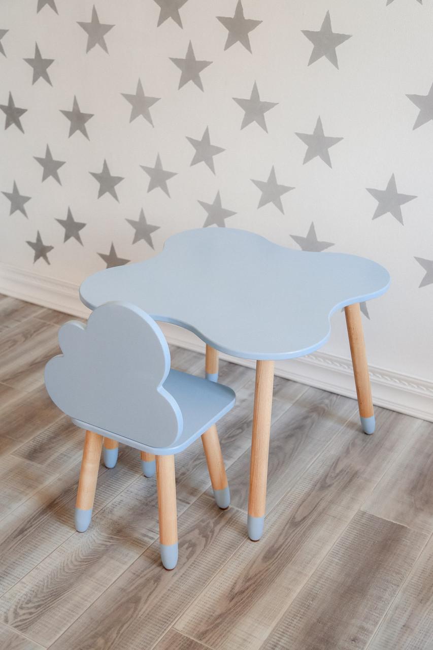 Столик детский + стульчик голубой KR118