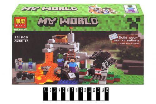 """Конструктор """"My World Minecraft: пещера аналог Лего Майнкрафт"""", 251 дет 10174  scs"""