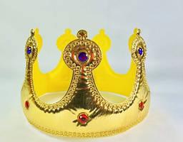 Корона карнавальная мягкая серебро, золото