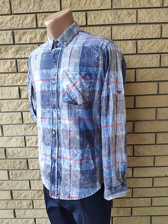 Рубашка мужская байковая коттоновая брендовая высокого качества COMPLO, Турция, фото 2