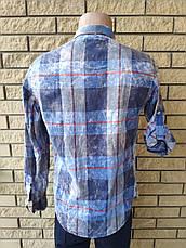 Рубашка мужская байковая коттоновая брендовая высокого качества COMPLO, Турция, фото 3