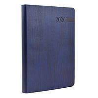 Ежедневник А5 дат. Eterno, мягк., PU, 352 стр., темно-синий      код: 251960