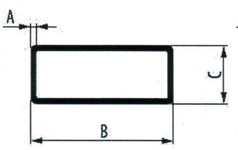 Алюминиевая прямоугольная труба  40*20*2 мм