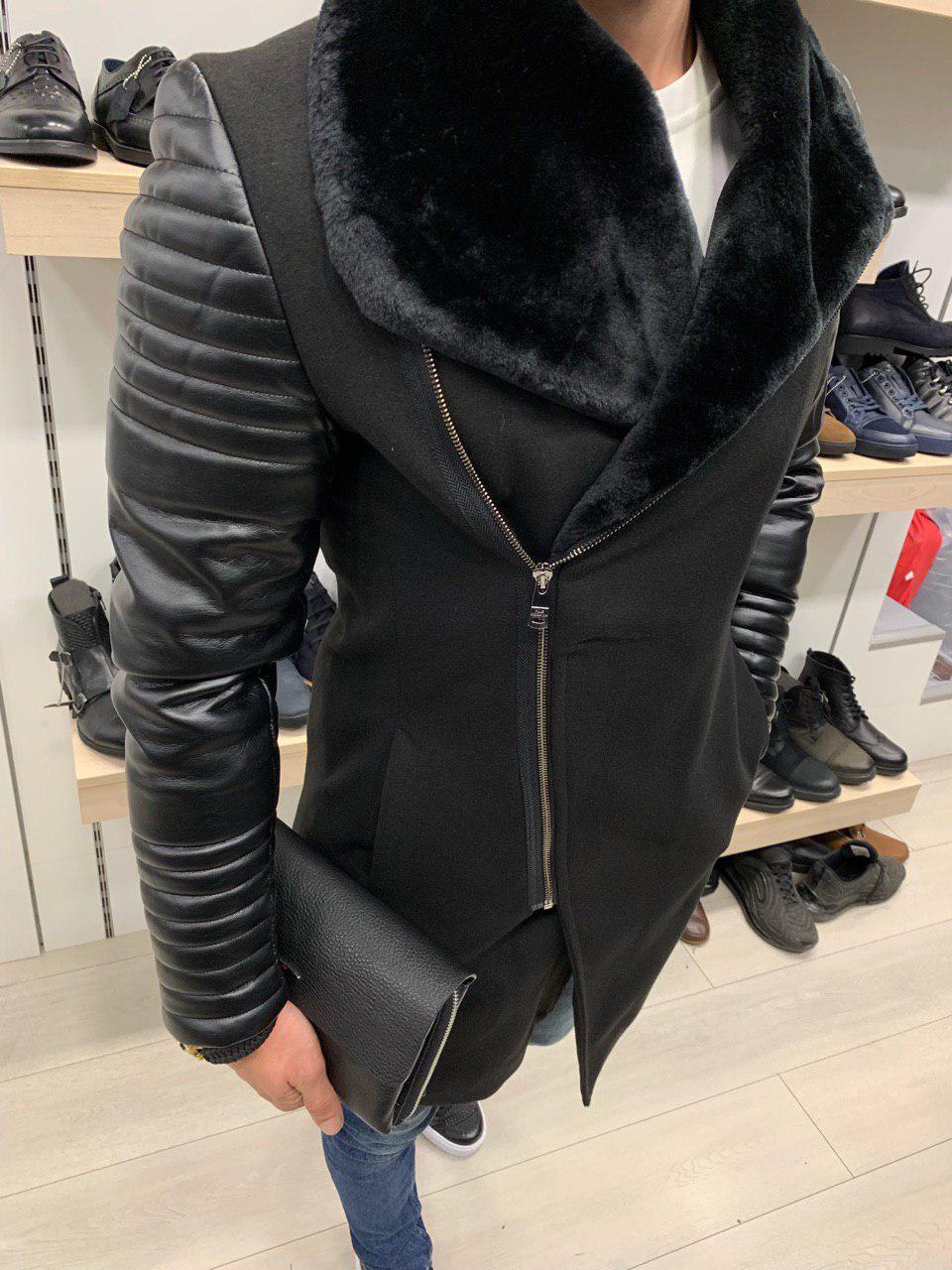 Пальто зимнее мужское на меху