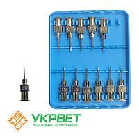Игла ветеринарная инъекционная многоразовая LL 1,0 мм (19 G), 12 шт