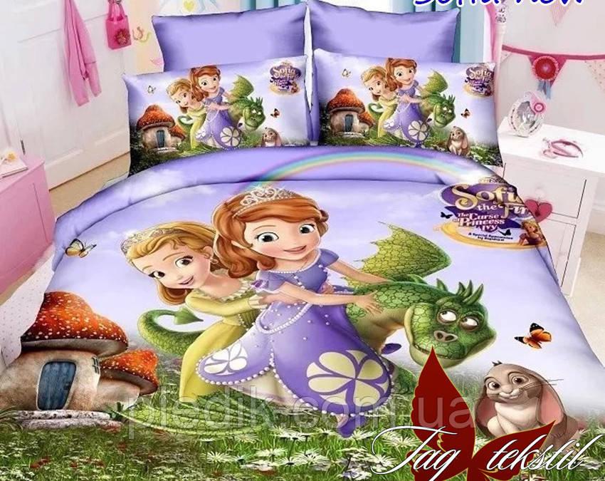 Детское постельное белье 150х215 TAG Ранфорс, Sofia new