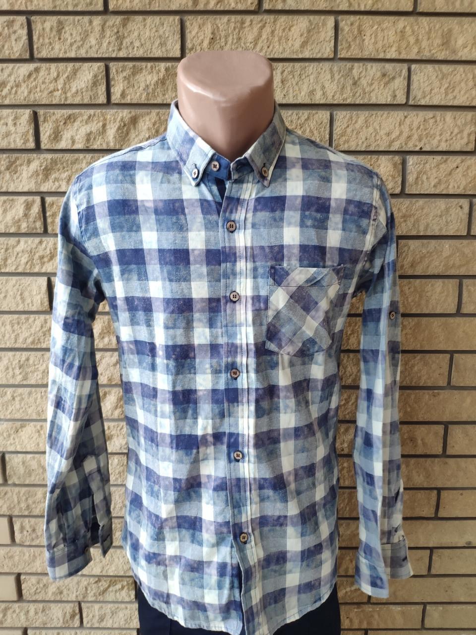 Рубашка мужская байковая коттоновая брендовая высокого качества COMPLO, Турция