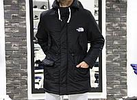 Удлиненная мужская куртка черная