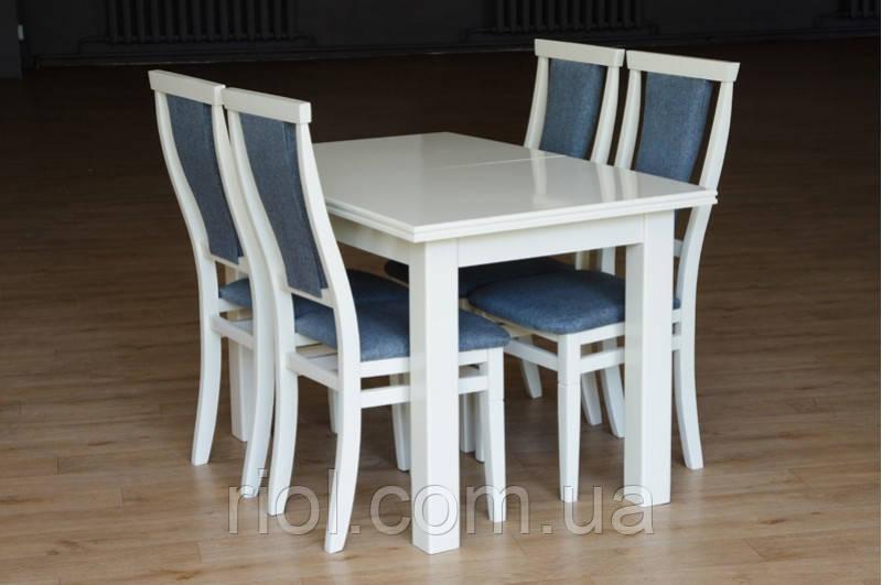 Стол обеденный раскладной Петрос (белый)