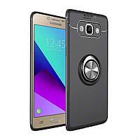Чехол TPU Ring для Samsung Galaxy J72016/ J710 бампер с кольцом Black