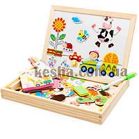 Деревянная игрушка Чемоданчик с фигурками «Забавные картинки», развивающие товары для детей.