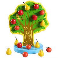 Деревянная игрушка Магнитное дерево с фруктами, развивающие товары для детей.
