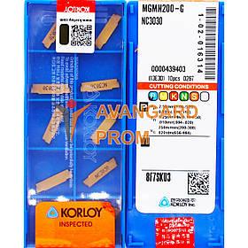 Пластина KОRLOY MGMN200-G NC3030