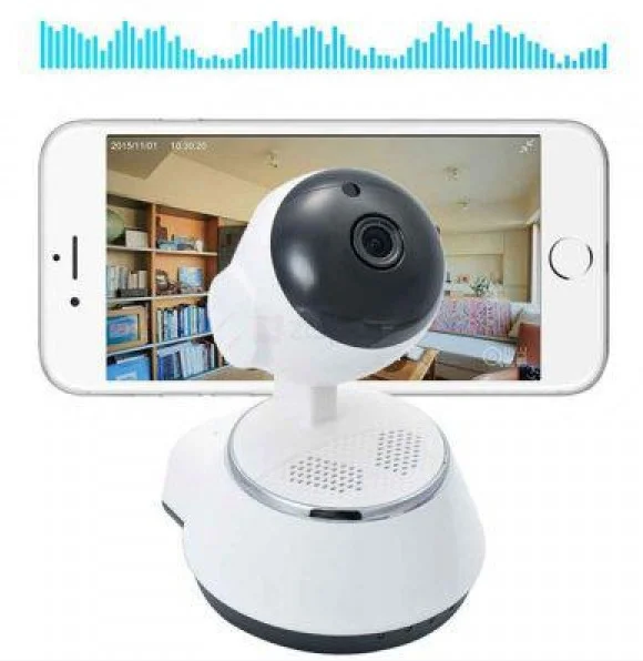 Поворотная сетевая IP Wi-Fi камера видеонаблюдения с датчиком движения и ночного виденья 360°V380-Q6