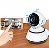 Поворотная сетевая IP Wi-Fi камера видеонаблюдения с датчиком движения и ночного виденья 360°V380-Q6, фото 3